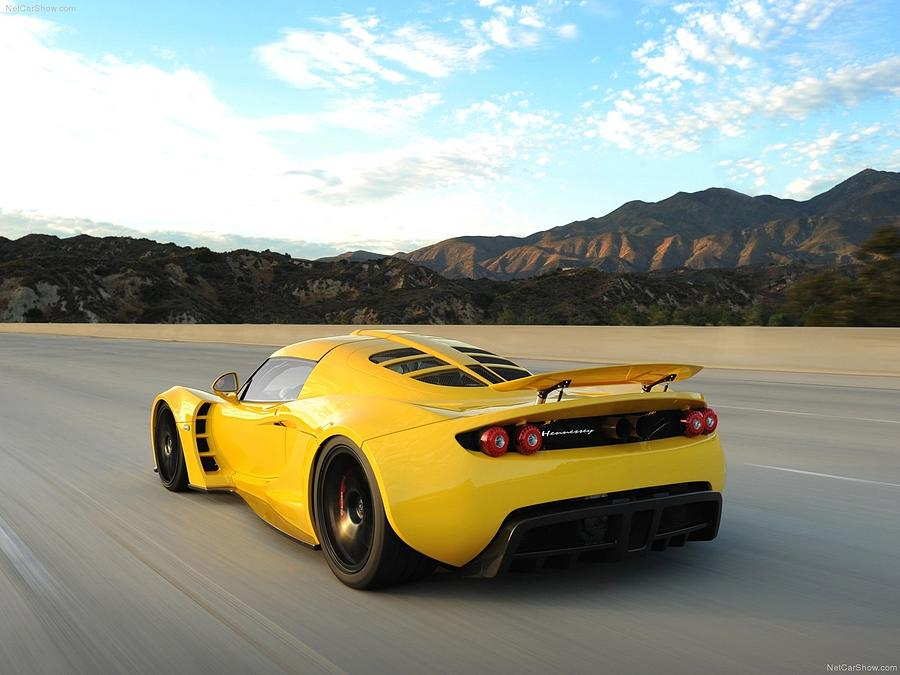 Car Digital Art - Hennessey Venom Gt by Dorothy Binder