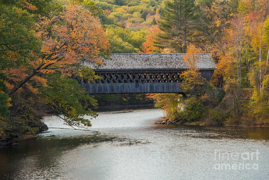 Henniker Covered Bridge Photograph by Bob Phillips