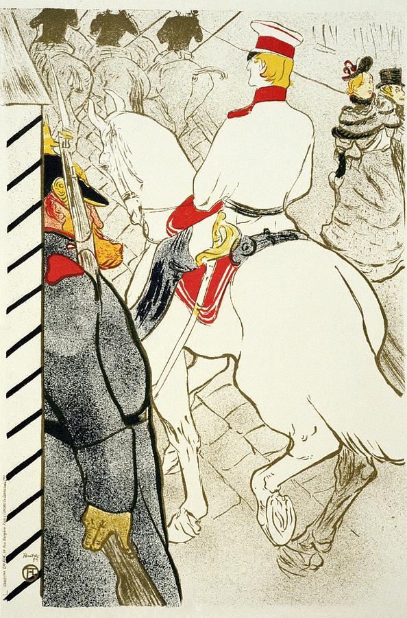 Henri De Toulouse Lautrec Illustration - Vintage Art Nouveau Poster - Belle Epoque - Paris Mixed Media