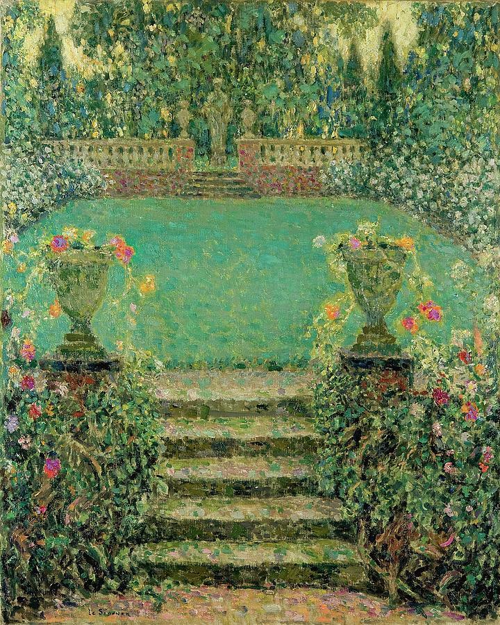 Nature Painting - Henri Le Sidaner 1862 - 1939 Market Garden, Gerberoy by Henri Le Sidaner
