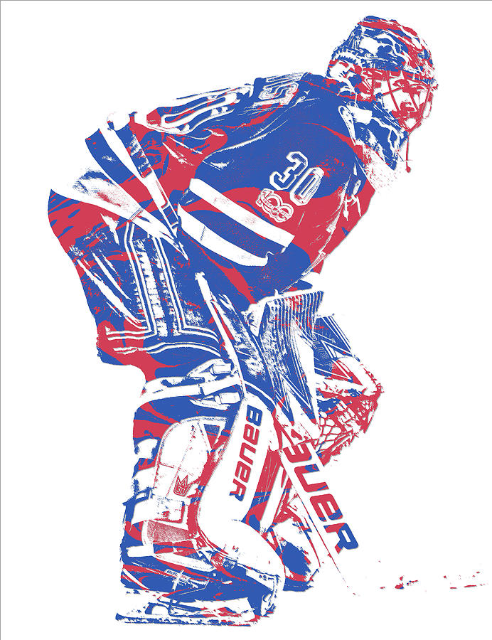 Henrik Lundqvist New York Rangers Pixel Art 3 Mixed Media By Joe