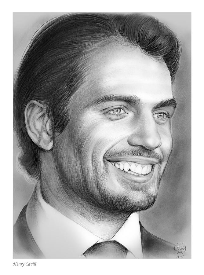 Henry Cavill Drawing - Henry Cavill by Greg Joens
