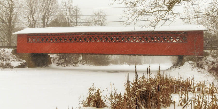 Henry Covered Bridge in Winter by Phil Spitze