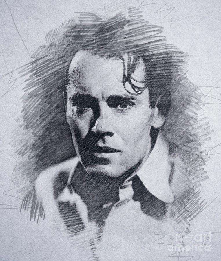 Henry Fonda, Vintage Actor Drawing