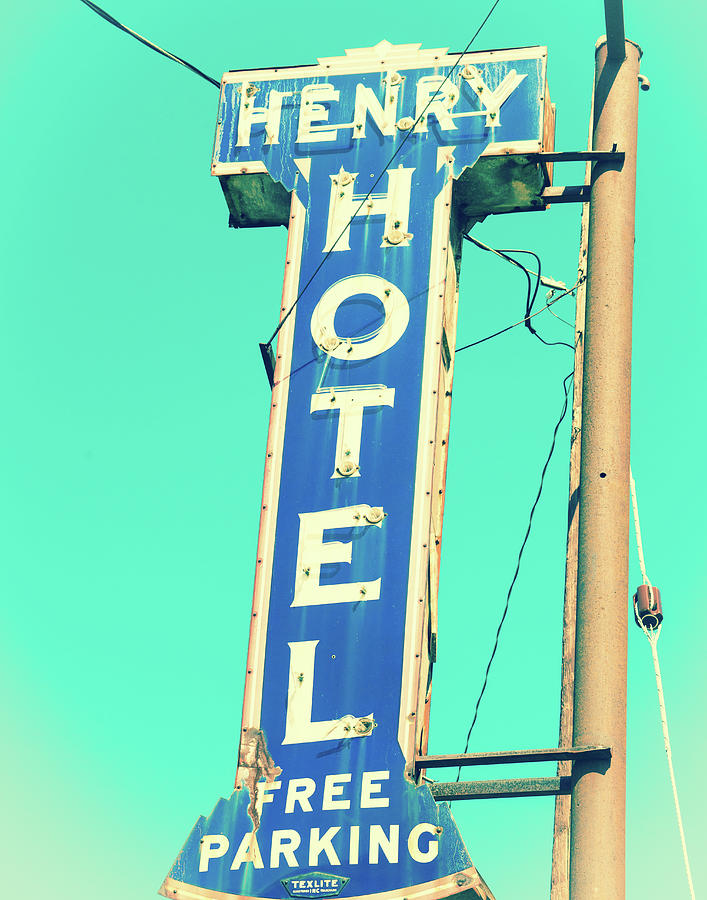 Henry Hotel Sign by Sonja Quintero