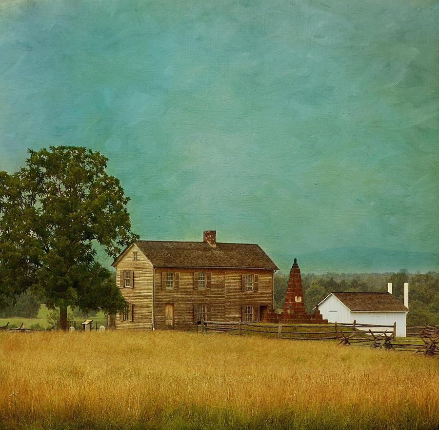 Henry House Photograph - Henry House At Manassas Battlefield Park by Kim Hojnacki