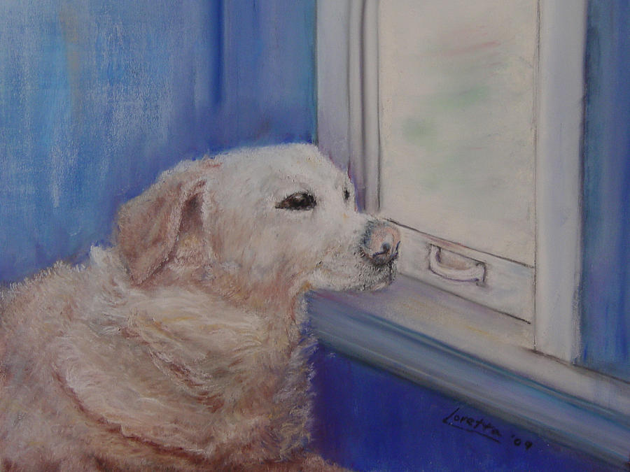 Dogs Painting - Henry by Loretta Luglio