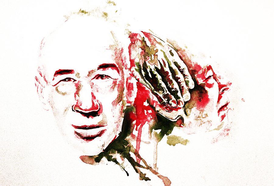 Henry Miller Painting - Henry Miller Portrait  by Alexandra-Emily Kokova