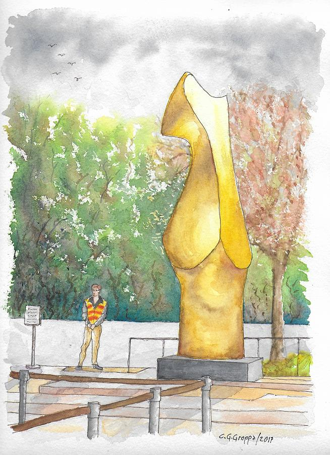 Henry Moore's Bronze Form in The Getty Center, Los Angeles, California by Carlos G Groppa