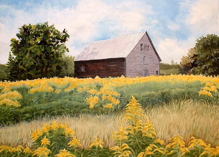 Barn Painting - Henrys Barn by Carole Rickards