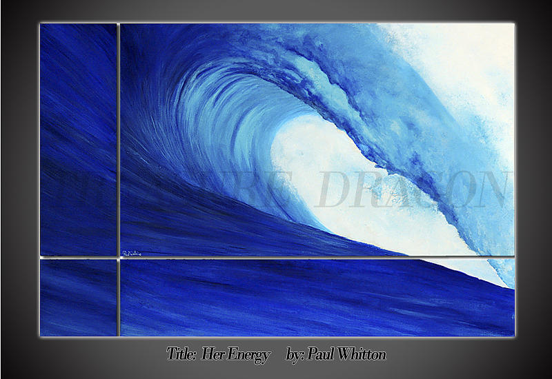 Wave Painting - Her Energy by Paul Whitton