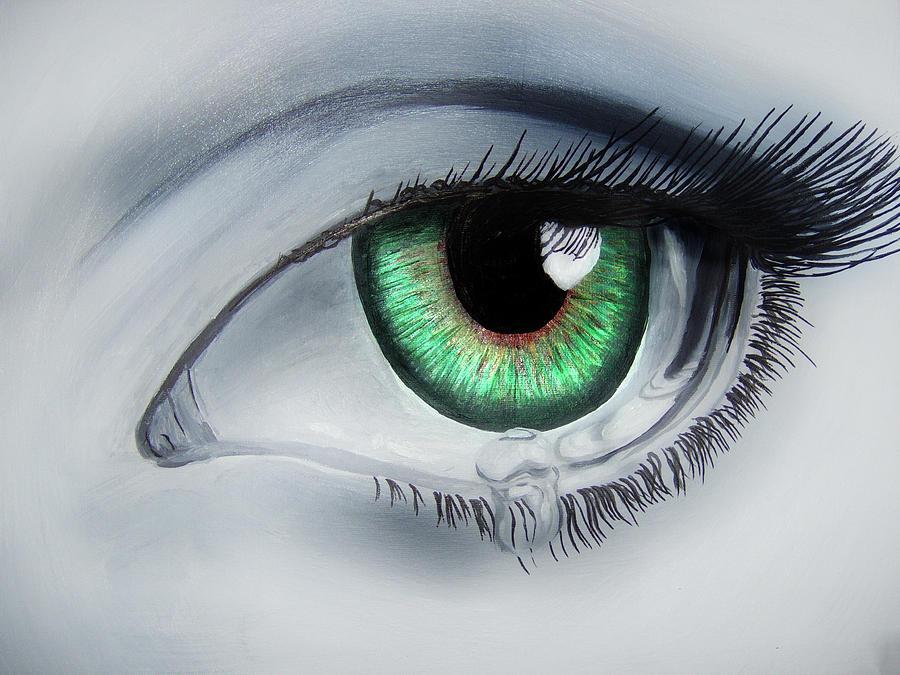 Eyes Painting - Her Eye by Michael McKenzie