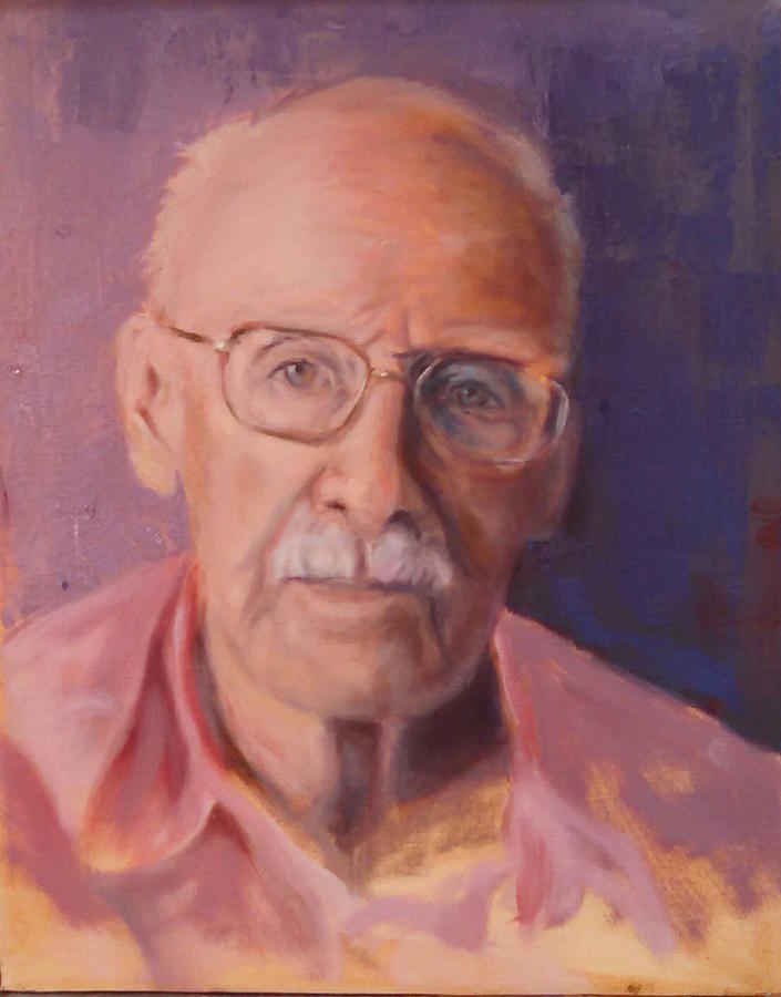 Elderly Man Painting - Her Father by Marcia Hochstetter