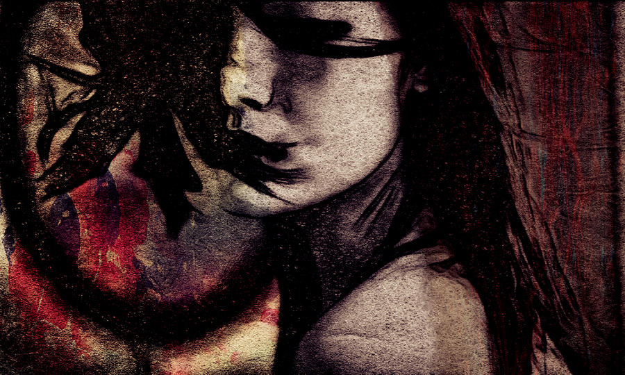 Beauty Photograph - Her Heart Is A Wild Fire  by Avriahartz Digital Arts