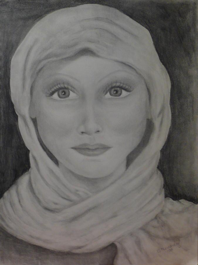 Portrait Drawing - Her by Jennifer Hernandez