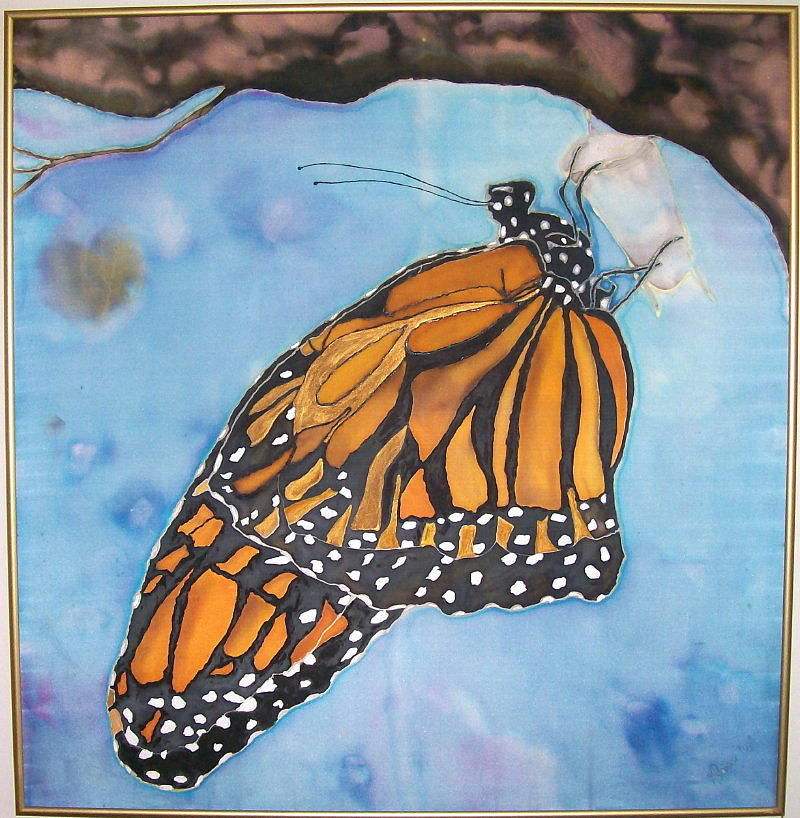 Nature Painting - Her Majesty The Monarch by Klaire Mar
