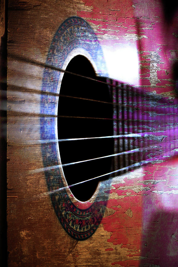 Music Photograph - Her Old Guitar by Rozalia Toth