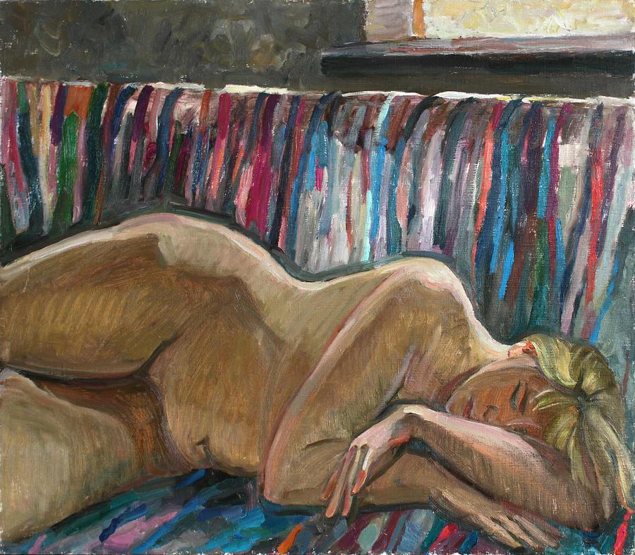 Nude Painting - Her Sleep by Juliya Zhukova