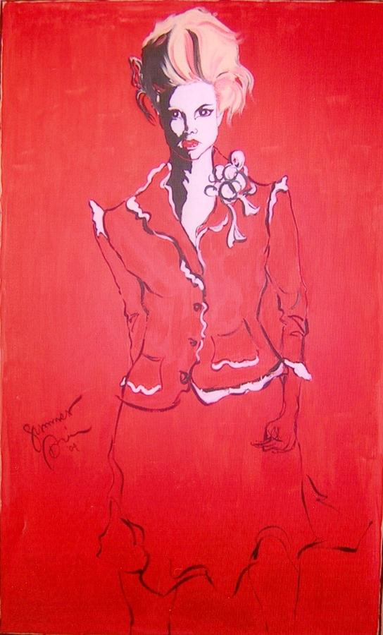 Woman Painting - Her Sold Corporate Commission by Summer Viljoen