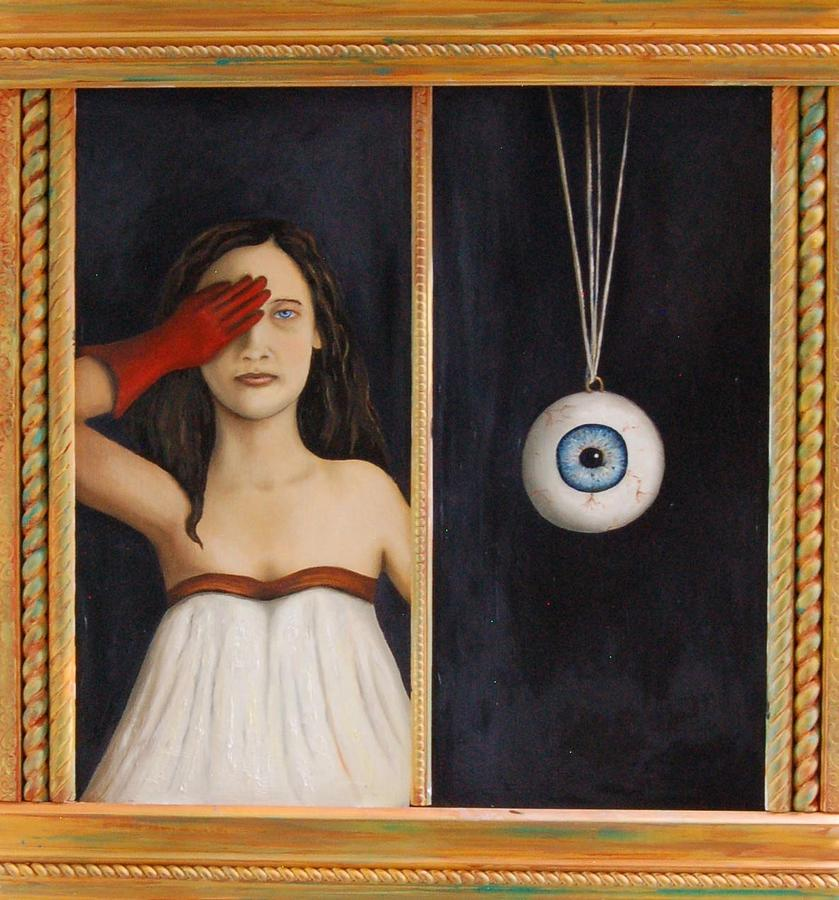 Eye Painting - Her Wandering Eye by Leah Saulnier The Painting Maniac