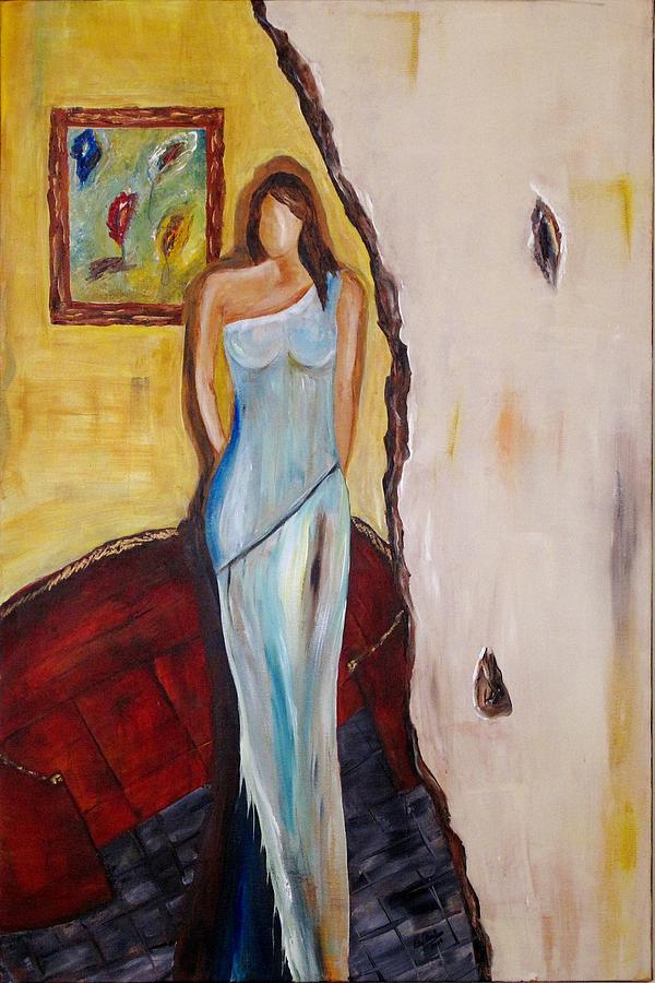 Abstract Painting - Her World  by Rita  Ibrahim