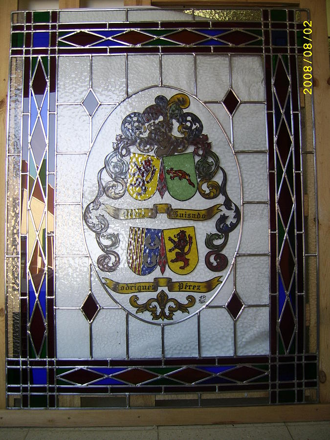 Stained Glass Glass Art - Heraldica by Justyna Pastuszka