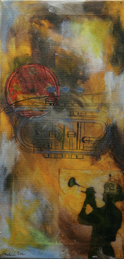 Trumpet Mixed Media - Herb by Robin Lee