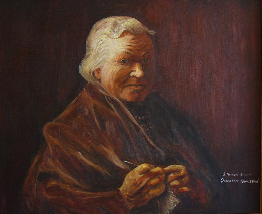 Woman Painting - Herbert Abrams Mother by Quwatha Valentine