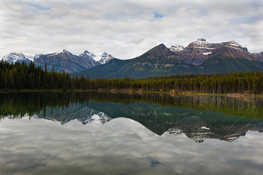 Herbert Lake Reflections  Photograph by George Oze