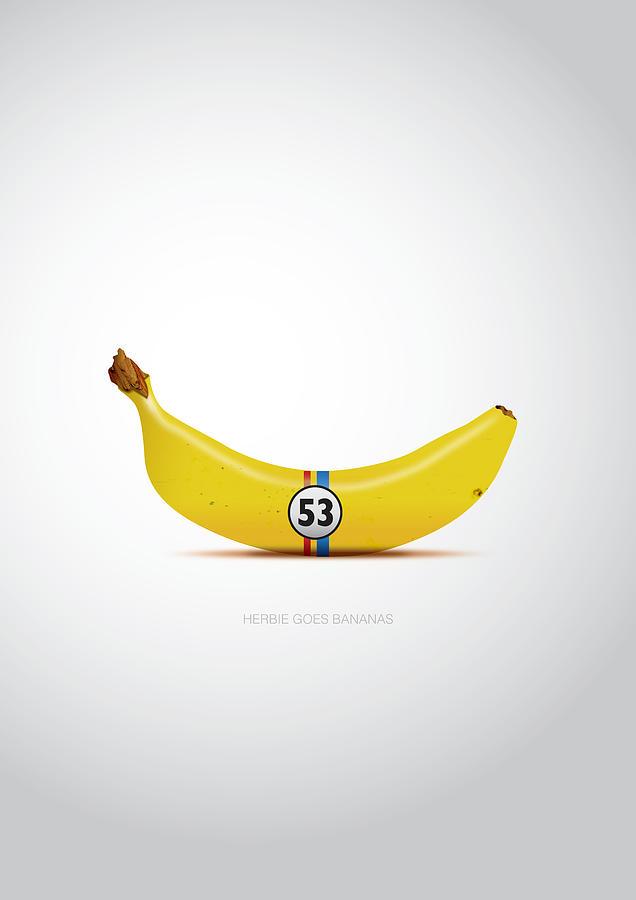 Herbie Goes Bananas Digital Art - Herbie Goes Bananas - Alternative Movie Poster by Movie Boy