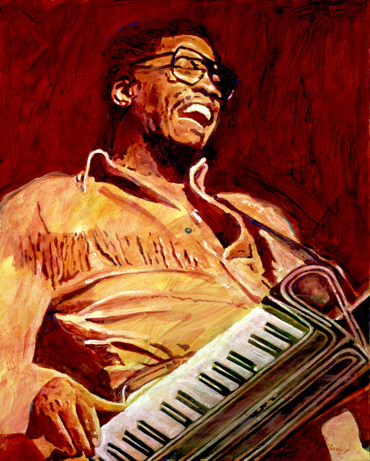 Herbie Hancock Painting - Herbie Hancock Rockit by David Lloyd Glover