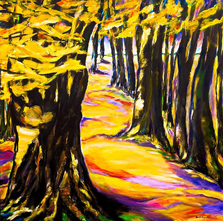 Landscape Painting - Herbstzeit by Eberhard Schmidt-Dranske