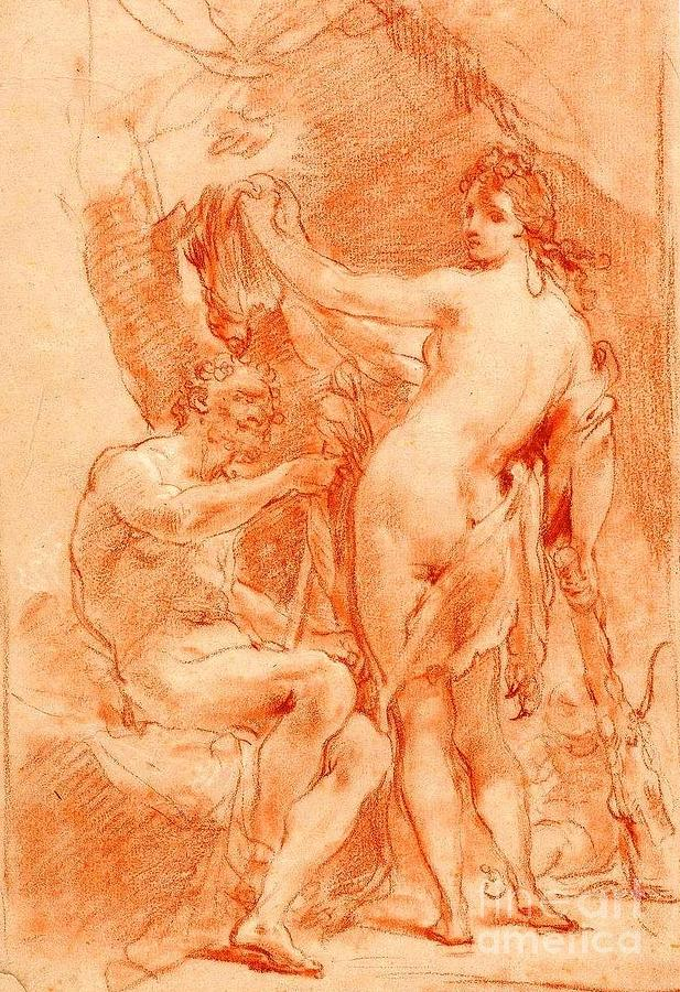 Hercules And Omphale Painting