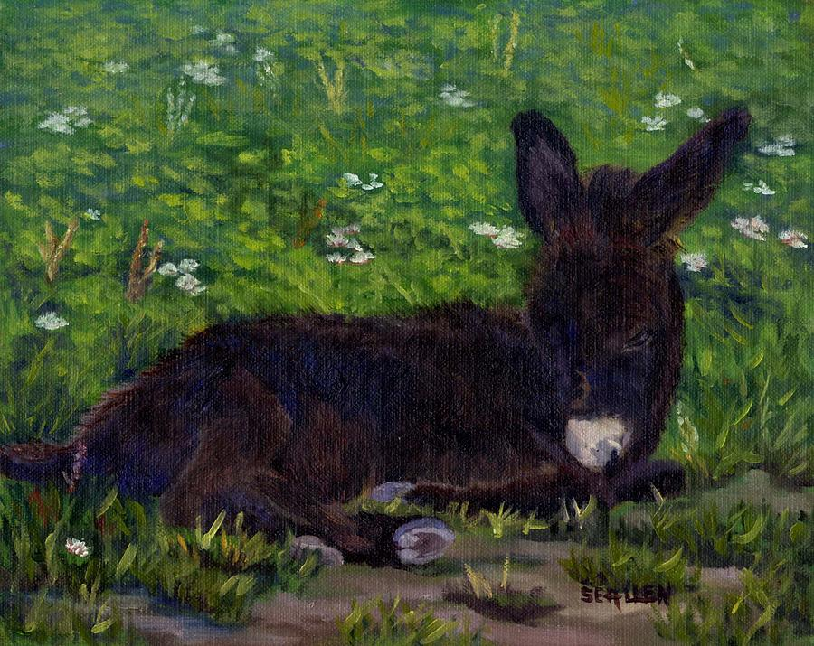 Donkey Painting - Hercules by Sharon E Allen