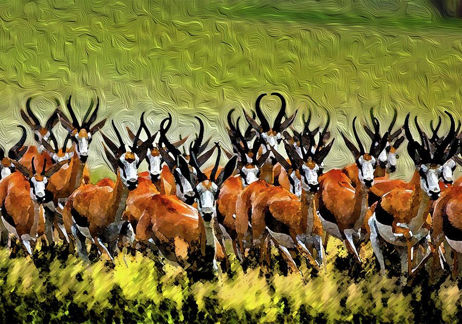 Animals Digital Art - Herd 2 by Bruce Iorio