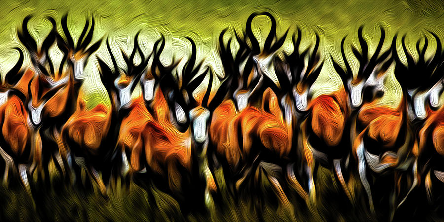 Animals Digital Art - Herd by Bruce Iorio
