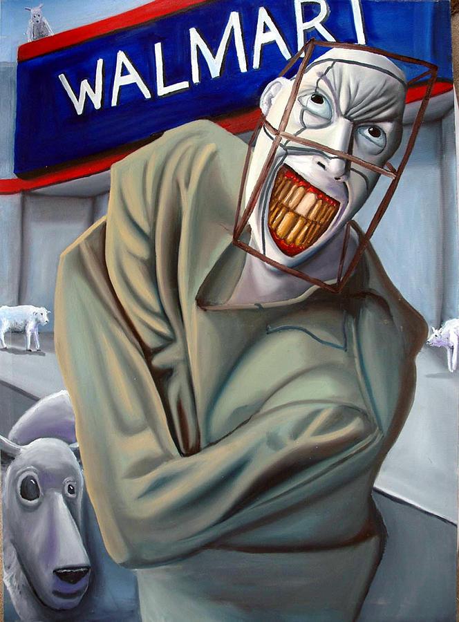Walmart Painting - Herding  by Robert  Nugent