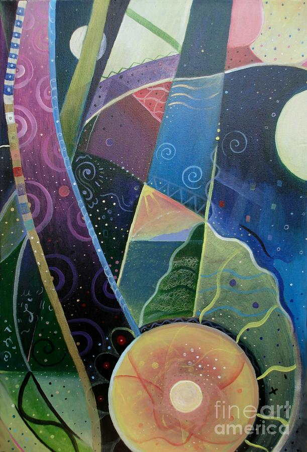 Multi-dimensional Painting - Here And There by Helena Tiainen