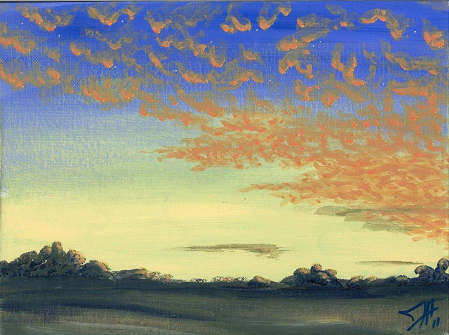 Landscapes Painting - Here Comes Sunshine by Dave Herrling