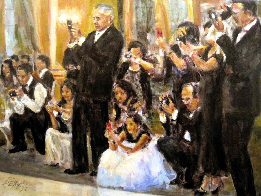 Acrylic Painting - Here Comes The Bride by Chuck Berk