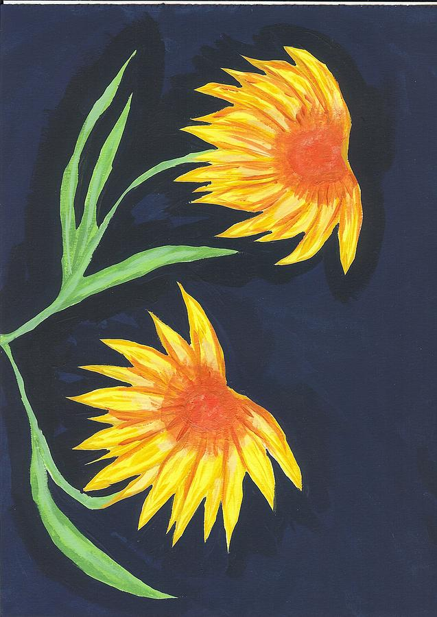 Flower Painting - Here Comes The Sun by Laura Lillo