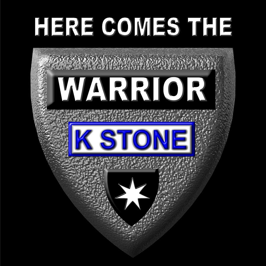 Here Comes The Warrior Digital Art - Here Comes The Warrior by K STONE UK Music Producer