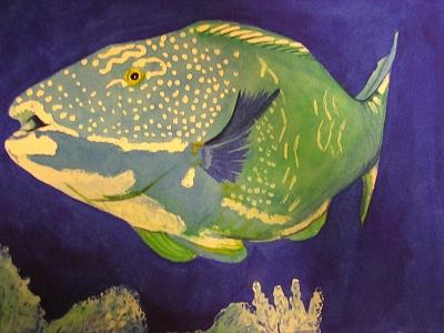 Underwater Painting - Here Fishy Fishy by Robin MacKenzie