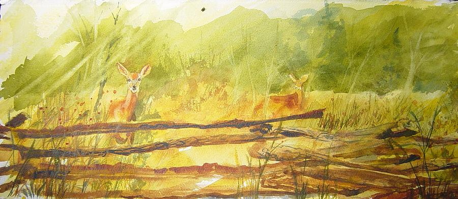 Landscape Painting - Here Is Looking At You by Kris Dixon