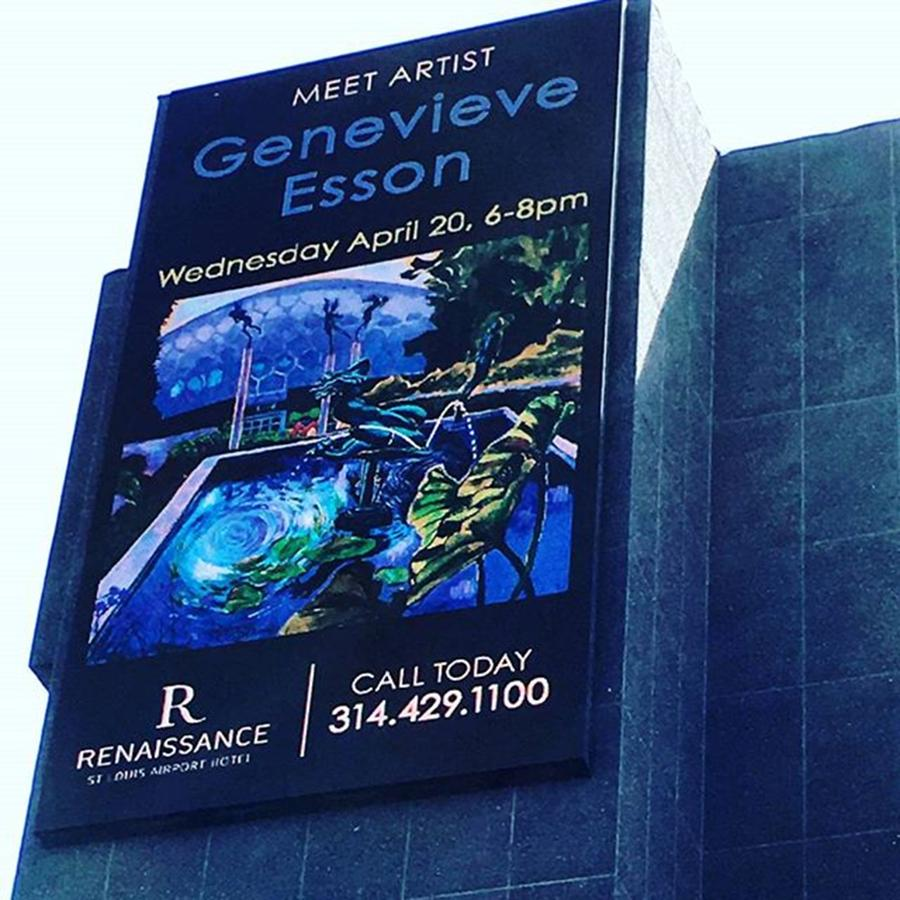 Exhibit Photograph - Here Is The Electronic Billboard by Genevieve Esson