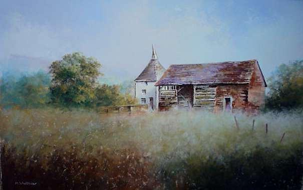 Barn Painting - Herefordshire Barn by Mark Whittaker