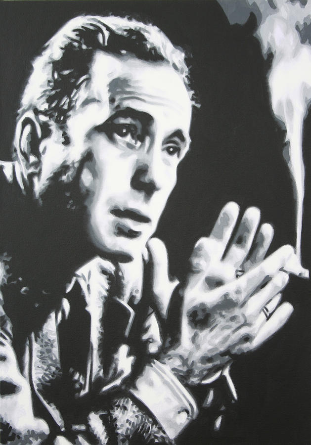 Humphry Bogart Painting - Heres Looking At You Kid by Luis Ludzska