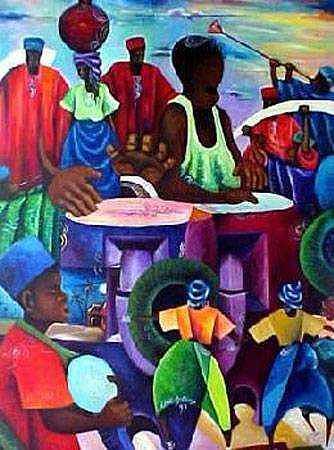 Acrylic On Canvas Painting - Heritage by Chidi Okoye