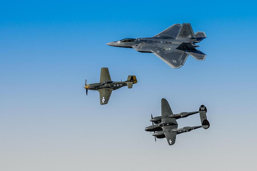 Airventure 2015 Photograph - Heritage Flight by Mark Goodman