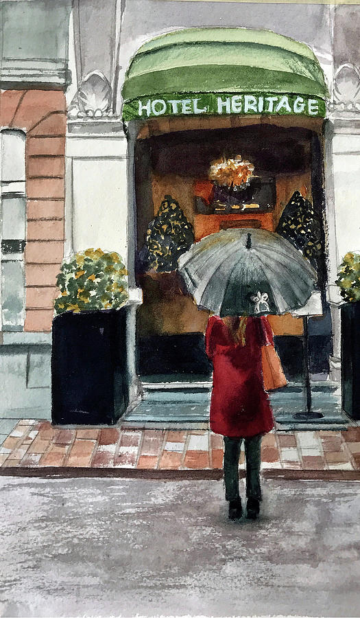 Girl Painting - Heritage Hotel by Lynne Atwood